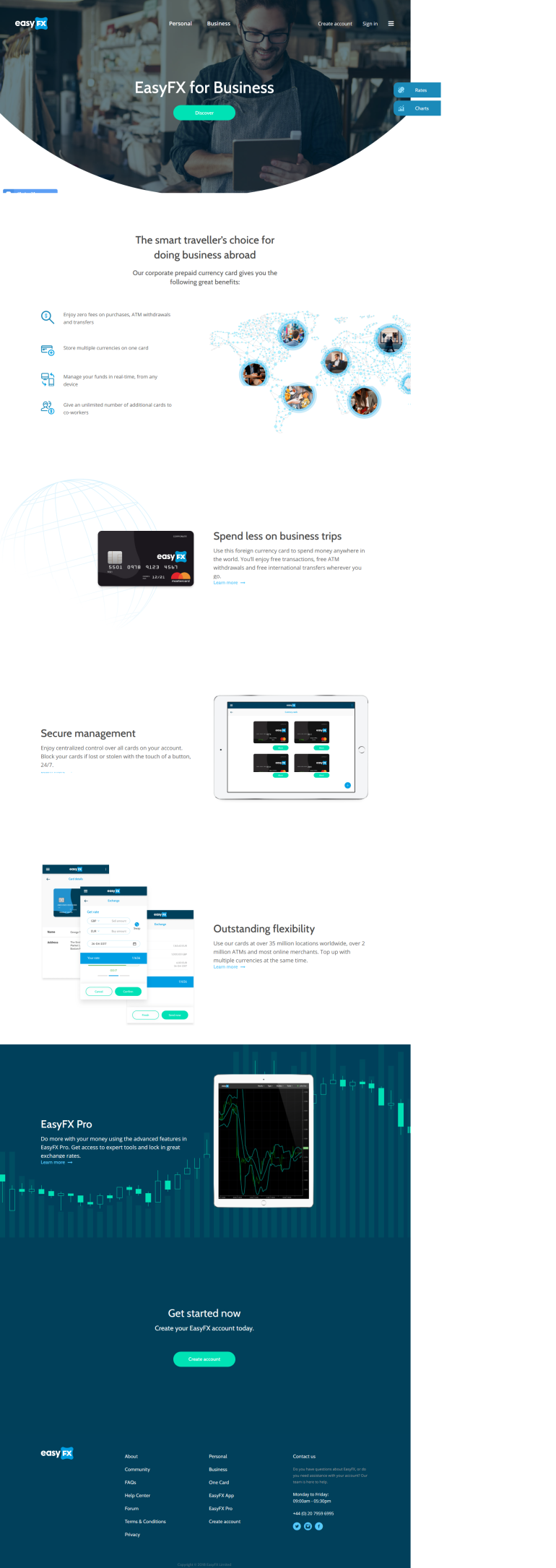 Business Currency Card EasyFX